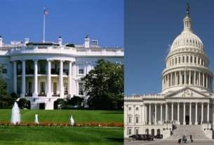 ImageLe Capitol et la Maison-Blanche usa