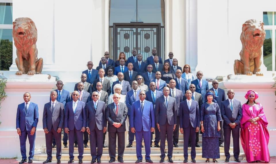 Photo des membres du gouvernement du Sénégal Macky 2