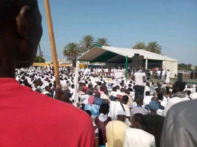Manifestation à Dakar Place de l'Obélisque f