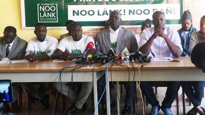 Photo du collectif Noo Lank en conférence de presse.