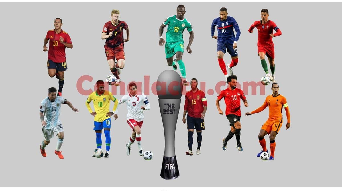 Image des joueurs nominés pour The Best Joueur de la FIFA 2020.