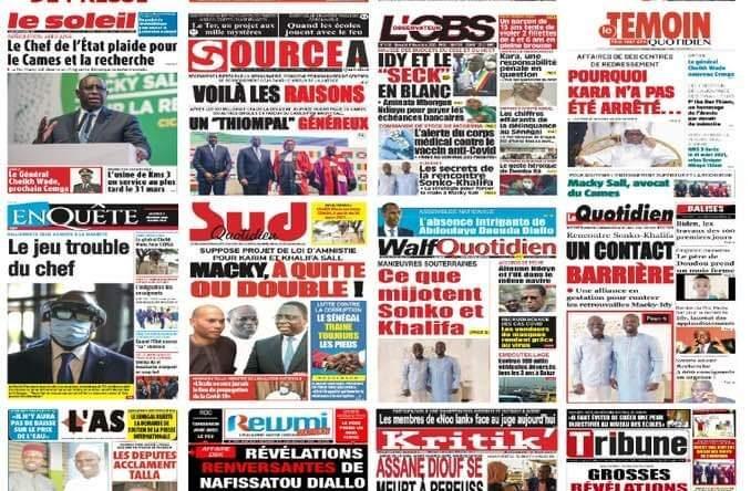 Revue de la presse sénégalaise du mercredi 9 décembre 2020.