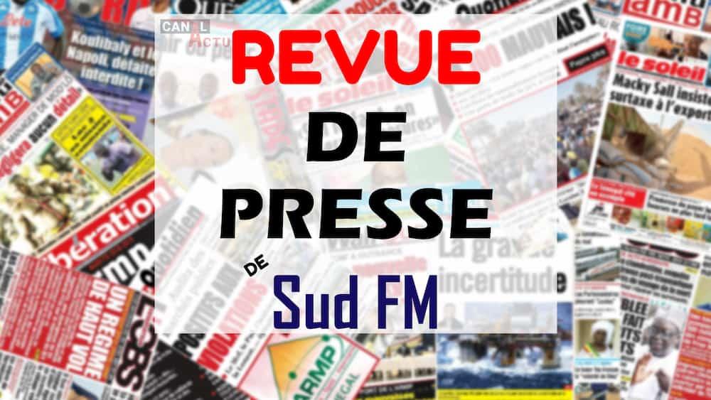 Revue de Presse de Sud FM du samedi 12 décembre 2020 Par Ndeye Marieme Ndiaye (Wolof).