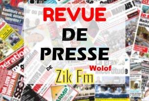 Revue de presse (Wolof) de Zik Fm du mardi 14 décembre 2020 avec Ahmed Aidara.