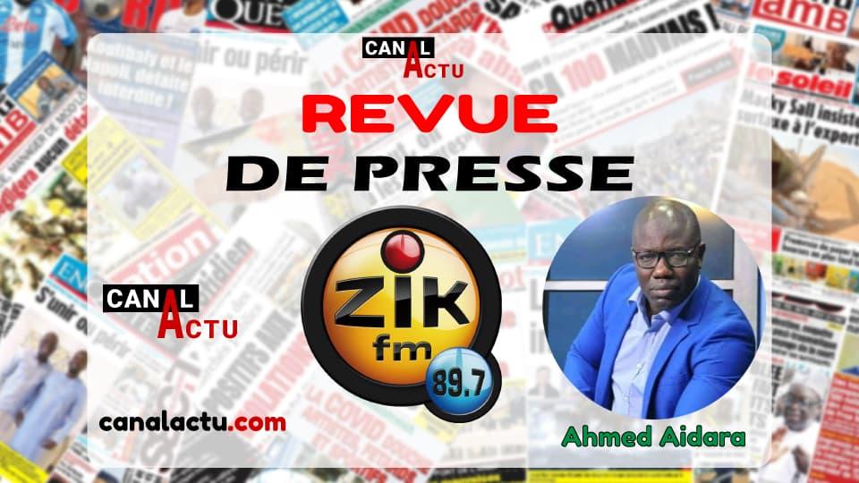 Revue de presse de Zik FM en Wolof.