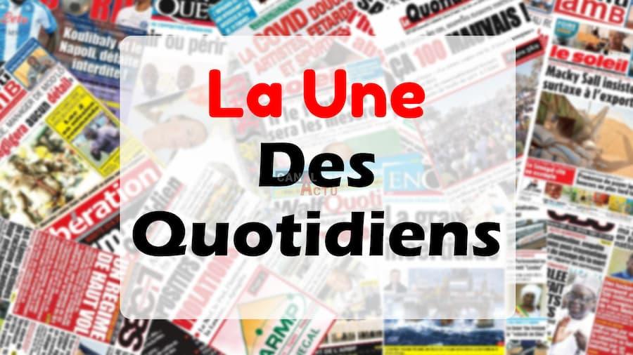 Image d'illustration de La une des journaux du Sénégal.