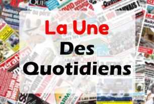 La une des journaux du Sénégal.