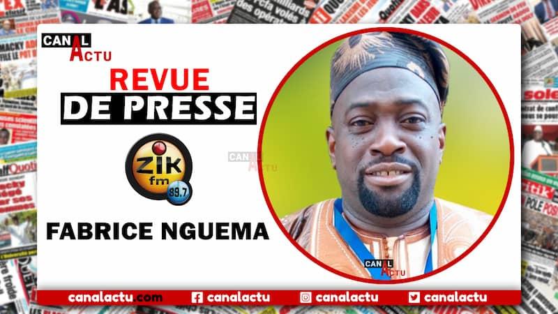 Revue de presse Zik Fm de Fabrice Nguema.