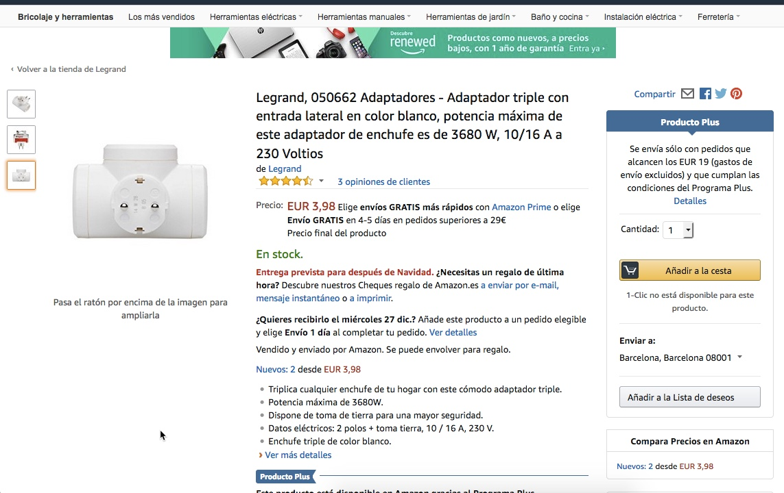 Listing de Amazon correcto
