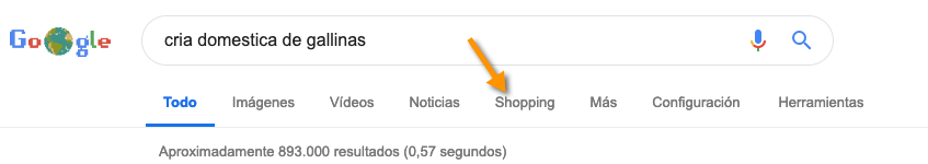 ejemplo de nicho para Amazon - google shopping