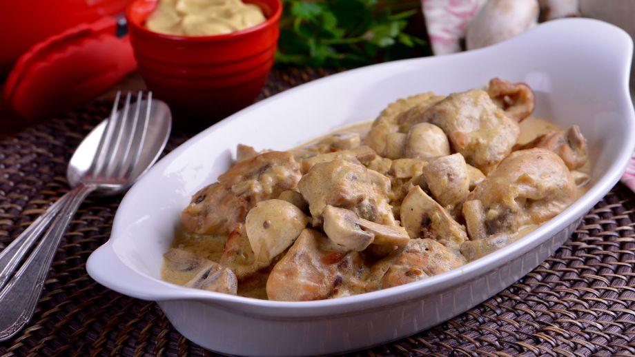 Conejo en salsa de mostaza  Evelyne Ramelet  Receta
