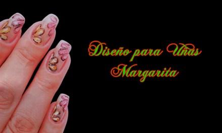 Fotos o Imagenes de Uñas Decoradas, Manicure, Diseño de Uñas de Flores Margaritas paso a paso 2.