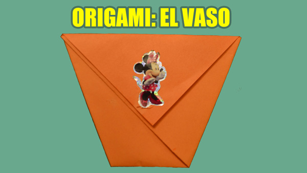 Manualidades de Papel, Origami Facil de Papel para Niños: El Vaso