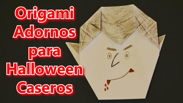 Origami de Papel Decoracion de Halloween con Adornos Caseros