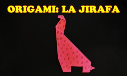 Origami para Niños de Papel La Jirafa en Manualidades con Papel, Origami de Animales