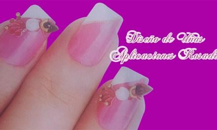 Fotos o Imagenes de Uñas Decoradas, Manicure, Diseño de Uñas Aplicacion Rosado paso a paso 21