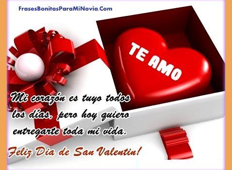Frases Bonitas Para El Dia De San Valentin Para Mi Novia