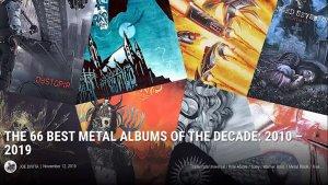 """Os 66 Melhores álbuns de metal da década: 2010-2019, na opinião da """"Loudwire""""."""