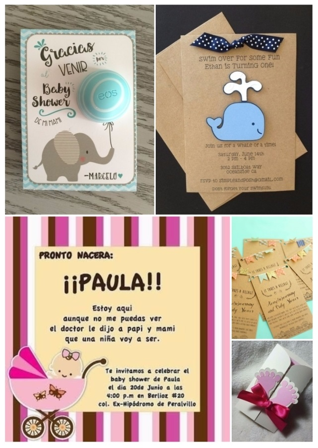 invitaciones para baby shower creativas
