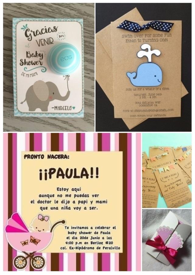 Más De 60 Invitaciones Para Baby Shower Gratis Y Fáciles De