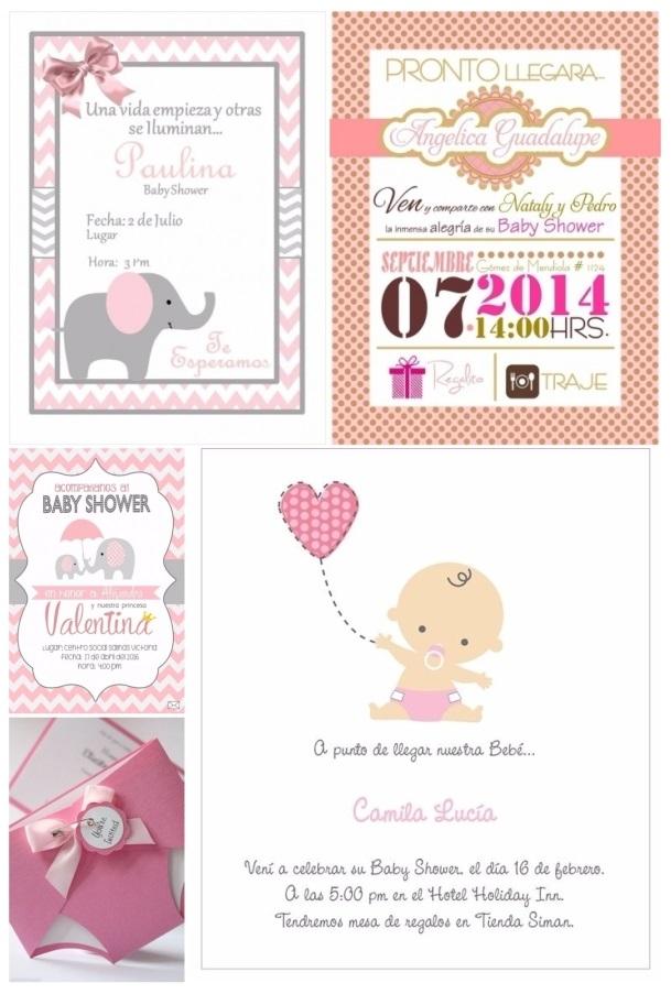 imagenes de invitaciones para baby shower modernas