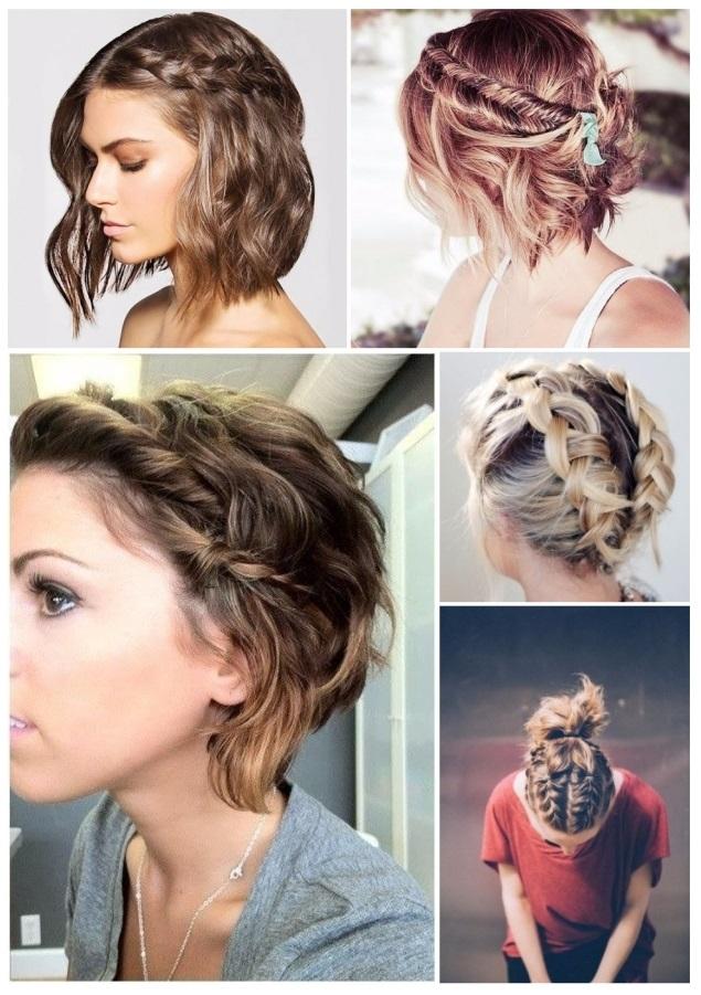 Peinados recogidos para pelo corto de mujer