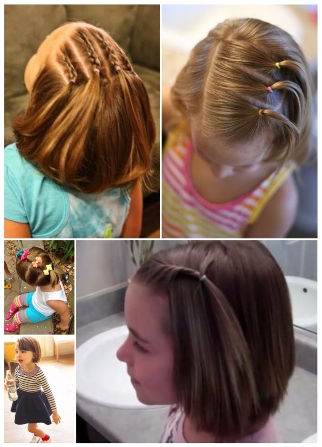 Peinados para ninas bebes de pelo corto