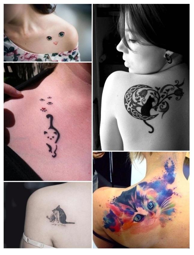 diseños de tatuajes de gatos