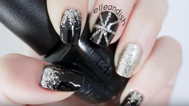 diseños de uñas para año nuevo