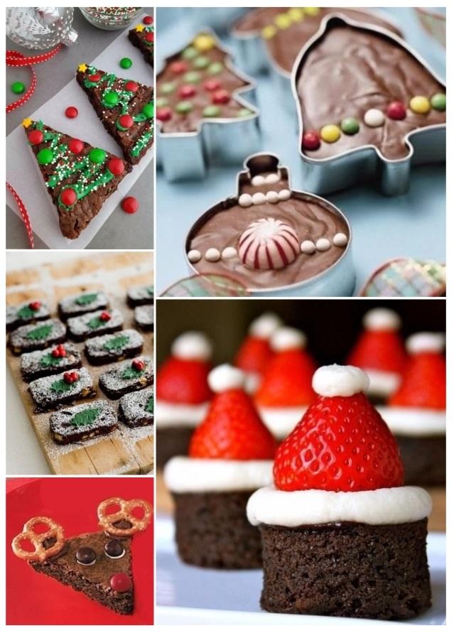 brownies navideños fáciles de hacer