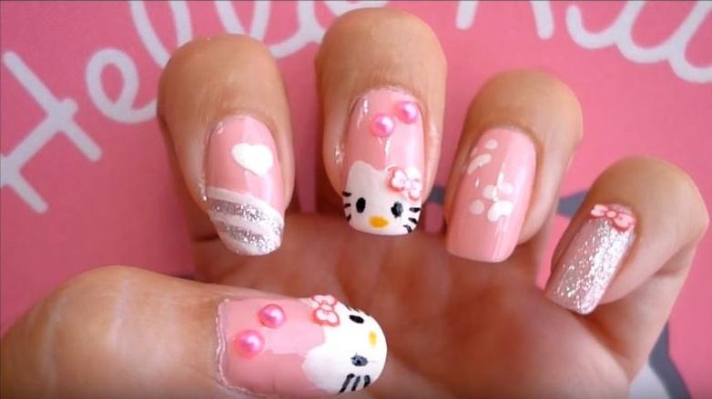 Uñas De Hello Kitty 40 Diseños Decorativos Con Esta Gatita