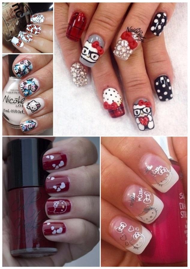 estilos de uñas de hello kitty