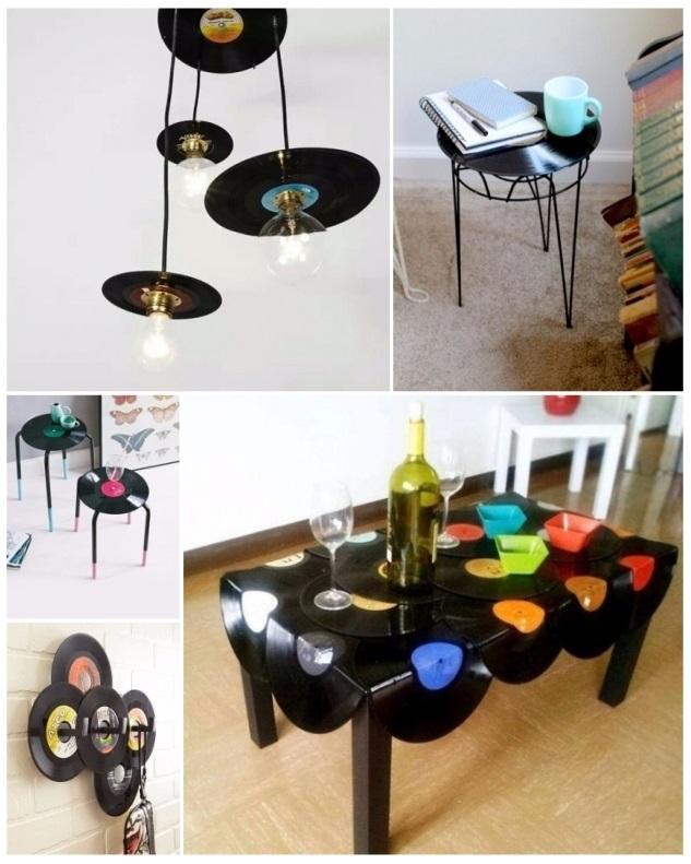 como decorar una recamara con discos