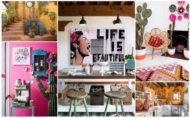 Decoraci n estilo mexicano 50 ideas para decorar tu hogar - Objetos rusticos para decoracion ...