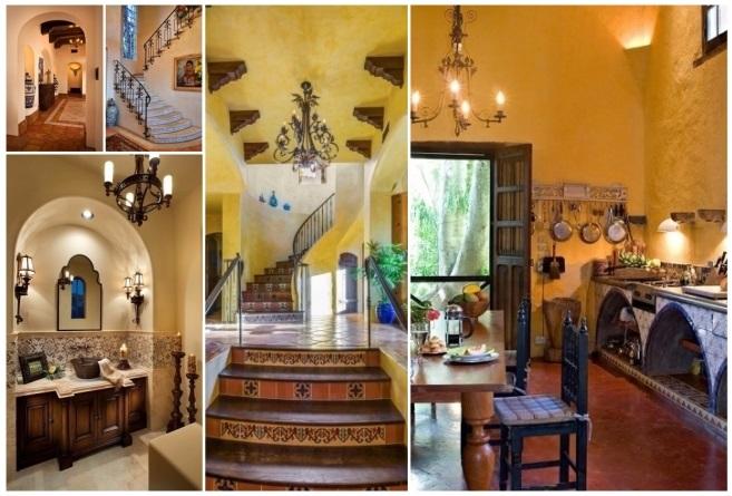 Decoraci n estilo mexicano 50 ideas para decorar tu hogar - Decoracion salon colonial ...