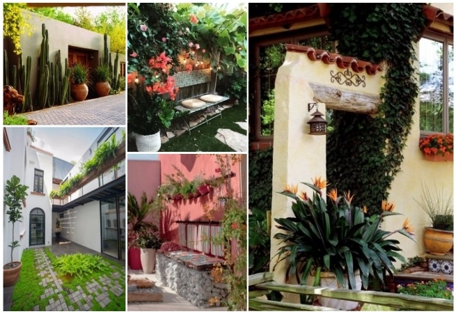 Decoraci n estilo mexicano 50 ideas para decorar tu hogar for Foto contemporanea de jardin