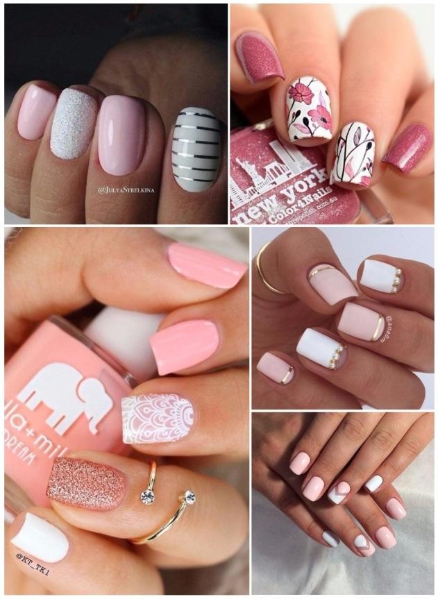 decoración de uñas en rosa paso a paso