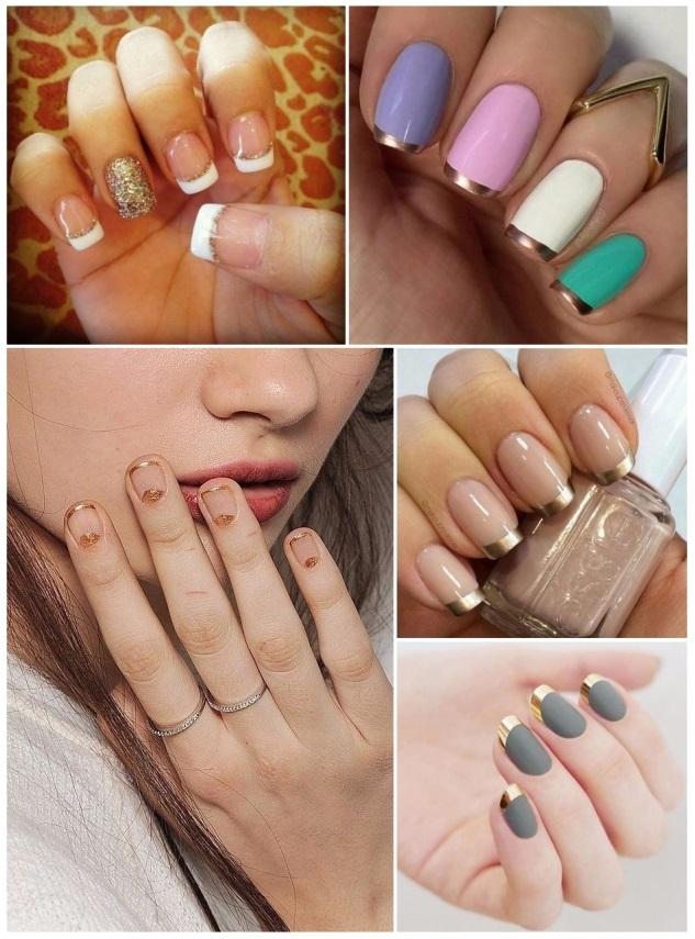 decoracion de uñas francesas de colores