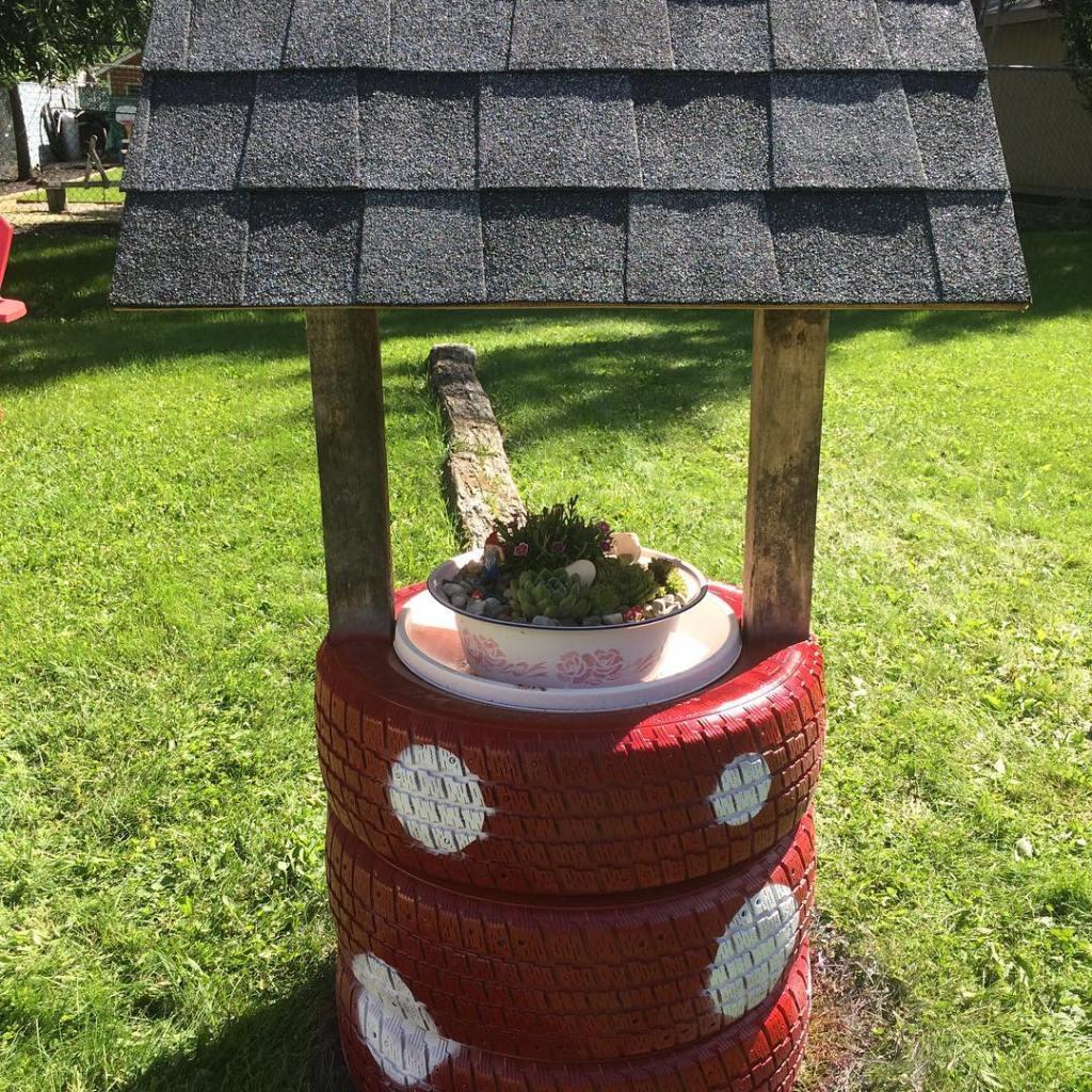 Decorar con llantas recicladas ideas diy para tu jard n for Modelos de jardines pequenos con llantas