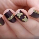 imágenes de decoración de uñas moradas