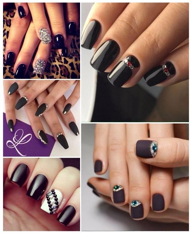 decoración de uñas negras 2013