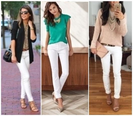 Como combinar un pantalón blanco ? 15 looks increíbles