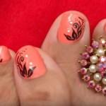 Uñas decoradas para los pies