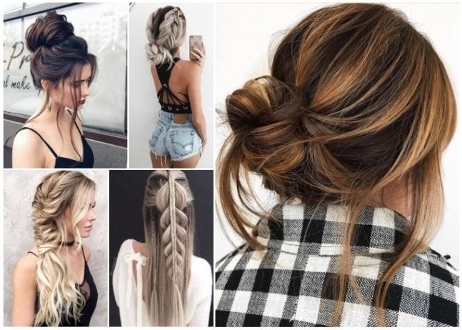 peinados en cabello largo para fiesta de noche