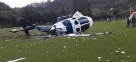 Video| Se estrella helicoptero que transportaba a Gobernador Brasileño.