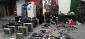 La Fiscalía incautó todos estos electrodomésticos en una cárcel.