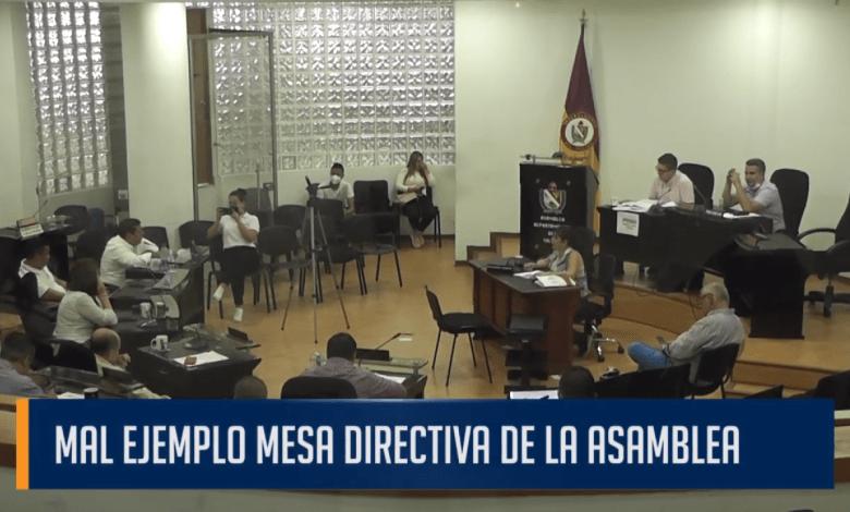 MAL EJEMPLO MESA DIRECTIVA DE LA ASAMBLEA
