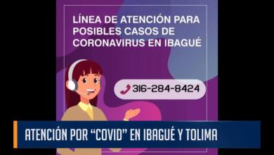 """ATENCIÓN POR """"COVID"""" EN IBAGUÉ Y TOLIMA"""