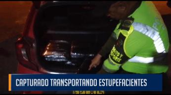 CAPTURADO TRANSPORTANDO ESTUPEFACIENTES