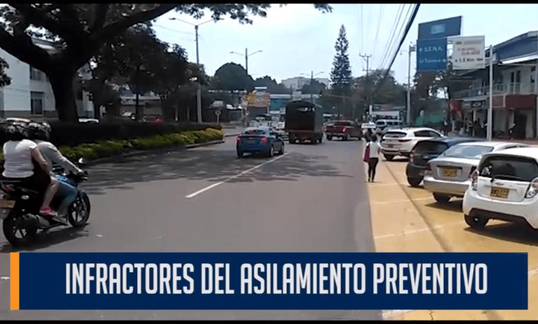 INFRACTORES DEL ASILAMIENTO PREVENTIVO